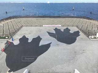 海ほたるのゴジラの足跡の写真・画像素材[1181023]