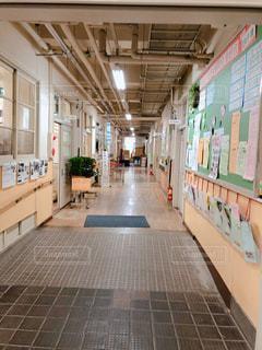 学校の廊下の写真・画像素材[1178429]