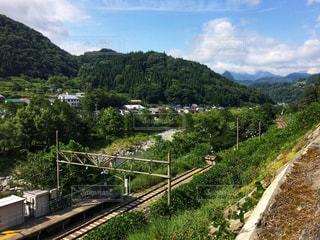 山間部の駅の写真・画像素材[1427039]