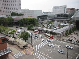 駅前の交差点の写真・画像素材[1167079]
