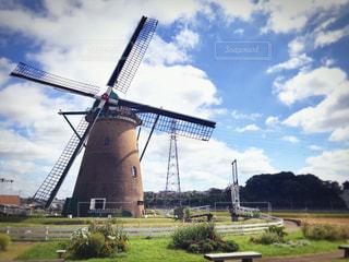 オランダ風車の写真・画像素材[1167743]