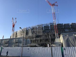 建設中の新国際競技場の写真・画像素材[1170490]