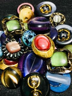 宝石のようなボタン。の写真・画像素材[1190233]