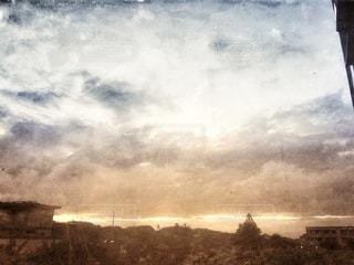 台風前の空の写真・画像素材[1283297]