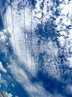 青空に音符のライン🎶🎵の写真・画像素材[1381854]