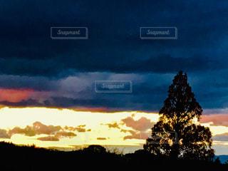 夕焼け空の写真・画像素材[1664594]