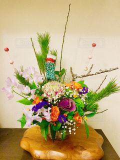 お正月の花の写真・画像素材[1696475]