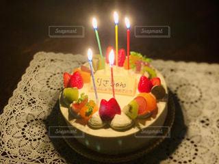 バースデーケーキの写真・画像素材[1743123]
