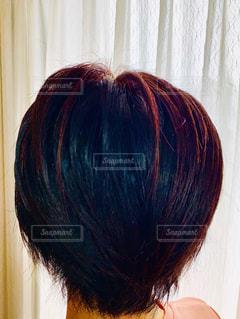 ヘナ後の髪の写真・画像素材[2121385]