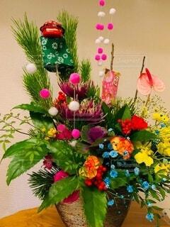 お正月の祝い花の写真・画像素材[4028098]