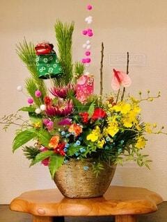 お正月の花の写真・画像素材[4028105]