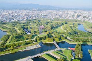 五稜郭タワーからの景色の写真・画像素材[2439312]
