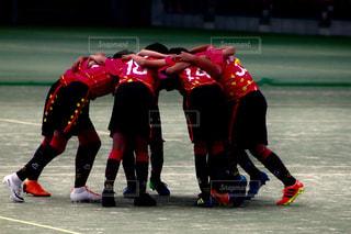 フットボール選手のフィールドのグループの写真・画像素材[1169939]