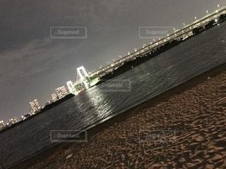 夜の砂浜の写真・画像素材[1170209]