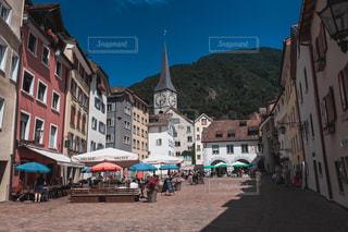 ヨーロッパの街並み - スイスの町 クールの旧市街の写真・画像素材[1453374]