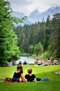 スイスはアルプス山脈に位置する湖の写真・画像素材[1500027]