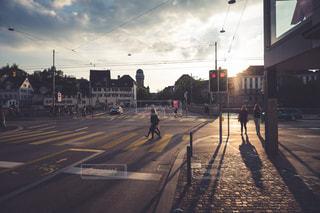 チューリッヒの夕日の写真・画像素材[1500060]