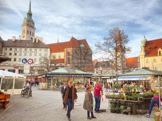 まるで映画のようなドイツ ミュンヘンの町並みの写真・画像素材[1500098]