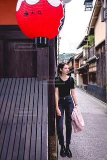 京都の祇園にての写真・画像素材[1684656]
