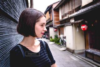京都の祇園にての写真・画像素材[1684662]
