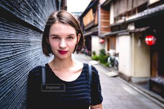 京都の祇園にての写真・画像素材[1684663]