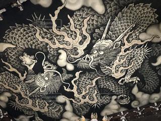 建仁寺の双龍図の写真・画像素材[1172496]