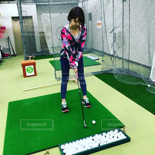 ゴルフ練習の写真・画像素材[933925]