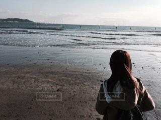 海と女の子の写真・画像素材[1175792]