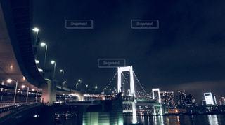 東京レインボーブリッジの夜景の写真・画像素材[1179355]