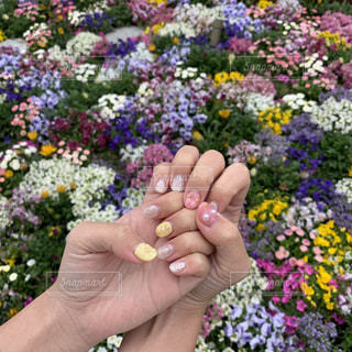 春ネイルの写真・画像素材[2102417]