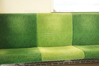電車のシートの写真・画像素材[1178283]