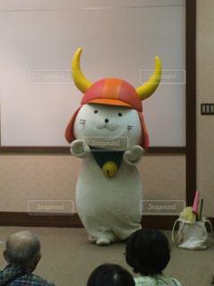 ひこにゃんの登場 in 彦根城の写真・画像素材[1178860]