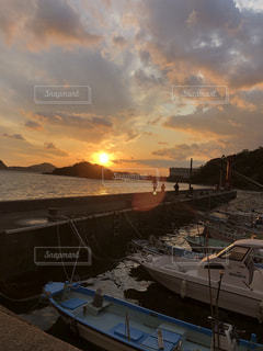 夕陽の写真・画像素材[1180203]