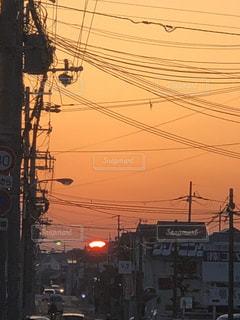街の夕陽の写真・画像素材[1181148]