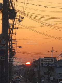街の夕日の写真・画像素材[1181464]
