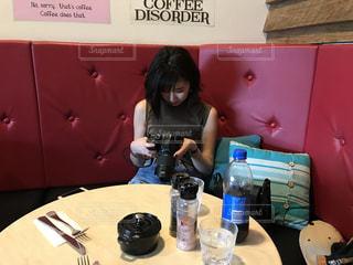 カフェにて写真整理☕️ - No.1259239
