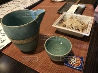 付き出しと日本酒の写真・画像素材[1640247]