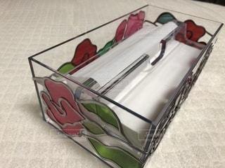 薔薇のティッシュケースの写真・画像素材[1182344]