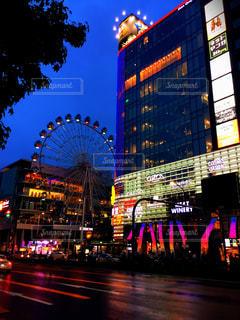 名古屋の夜に光る観覧車の写真・画像素材[1183228]