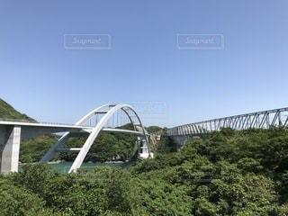 天草五橋 1号橋と 新しく開通する天城橋の写真・画像素材[1183974]