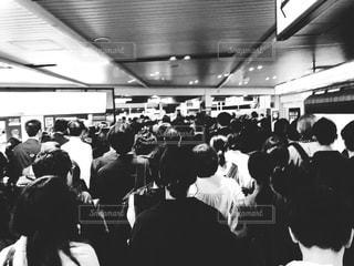 通勤ラッシュの写真・画像素材[1184640]