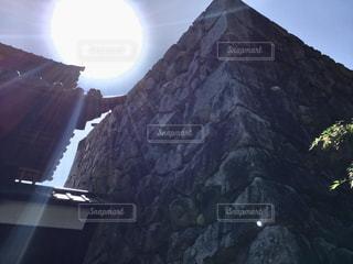 石垣の上にはの写真・画像素材[1202193]