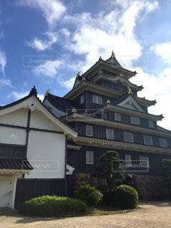 岡山城天守の裏側からの写真・画像素材[1368755]