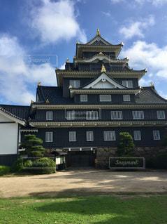岡山城の裏側からの天守の写真・画像素材[1368756]