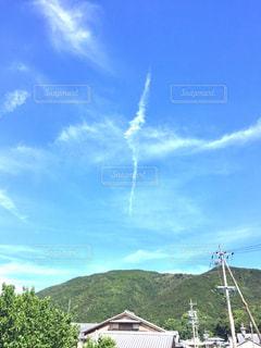 空に雲の写真・画像素材[1384337]
