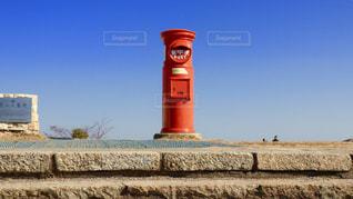 背景の時計塔の写真・画像素材[2737869]