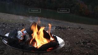 火のクローズアップの写真・画像素材[2765256]