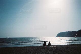 逗子マリーナ、海岸にての写真・画像素材[1113844]