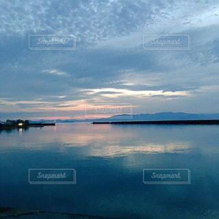 彦根港からの琵琶湖の写真・画像素材[1184856]