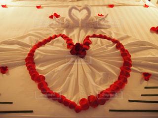 薔薇のベッドメイキングの写真・画像素材[1185724]